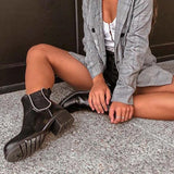Jolimall Jolimall Studded Chelsea Ankle Boots