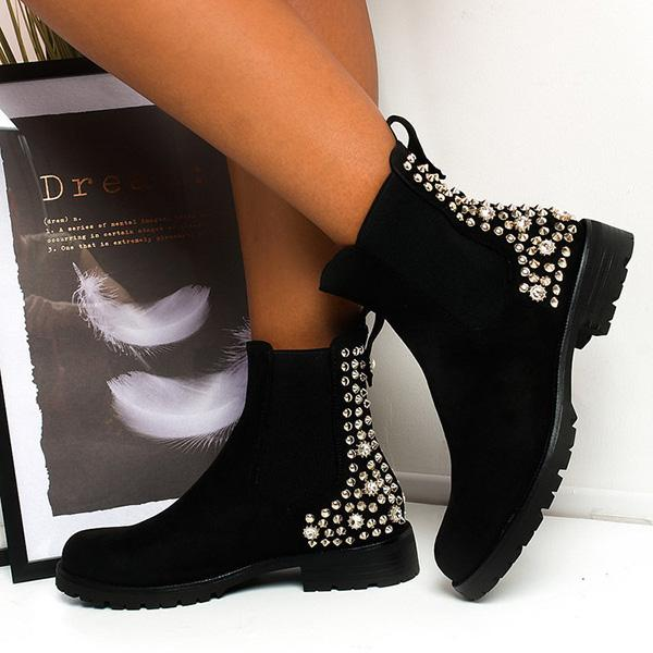 Jolimall Embellished Ankle Boots