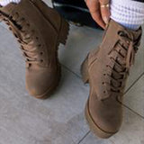 Jolimall Ladies Trendy Fashion Khaki Short Boots