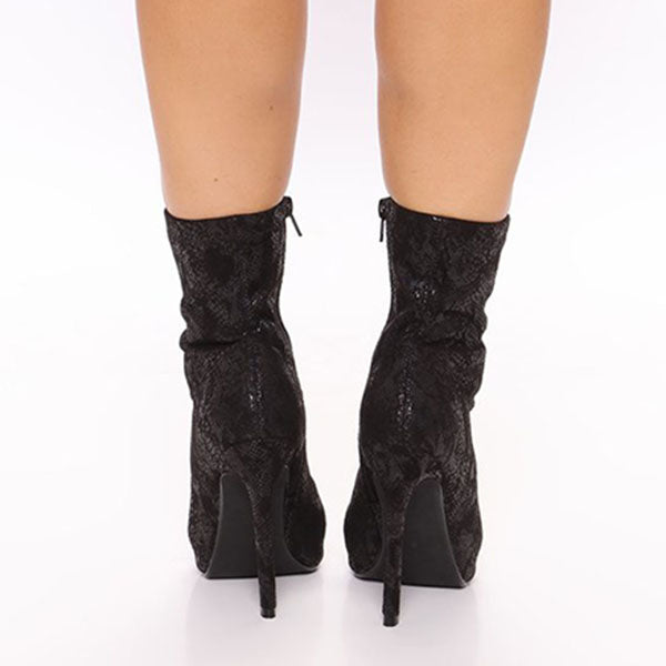 Jolimall Heartless Peep Toe Booties