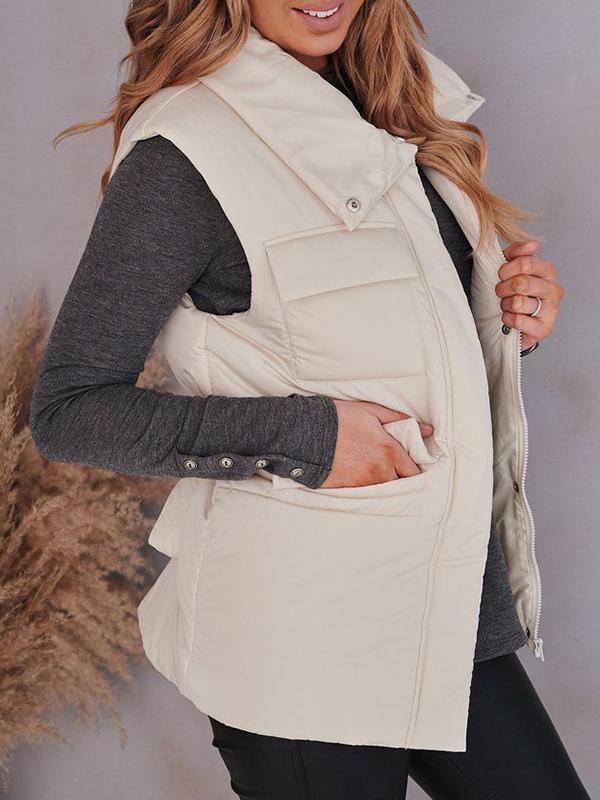 Jolimall Frozen Kisses High Neck Puffer Vest