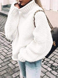 Jolimall Turtleneck Loose Pullover Sweater