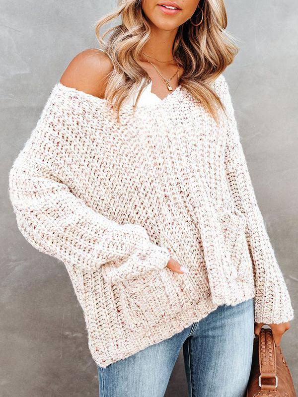 Jolimall Unconditional Love Pocketed Knit Sweater