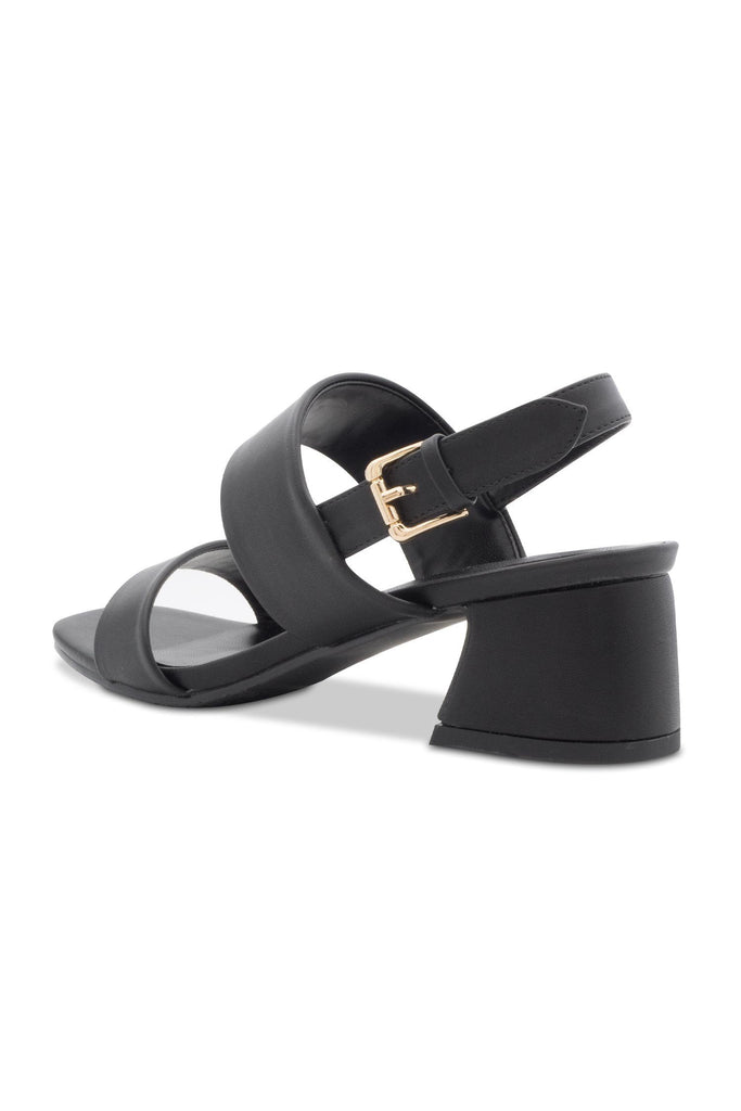 Jolimall Leather Chunky Heel Sandals