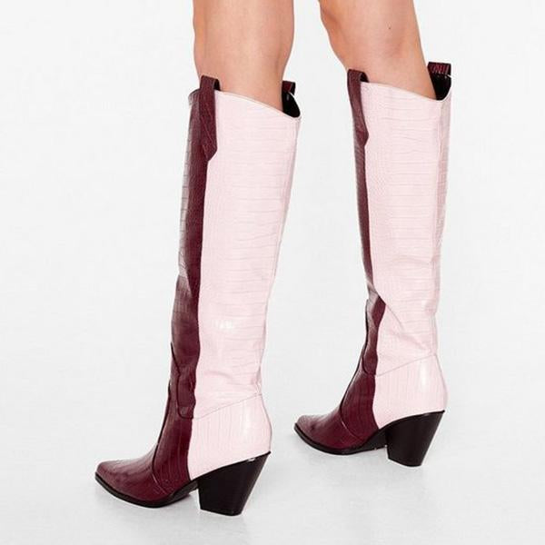 Jolimall The Wild Western Faux Cr Boots