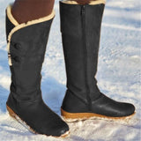 Jolimall Fur Lining Button Long Boots