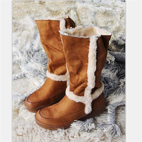 Jolimall Winter Warm Faux Fur Lined Snow Boots