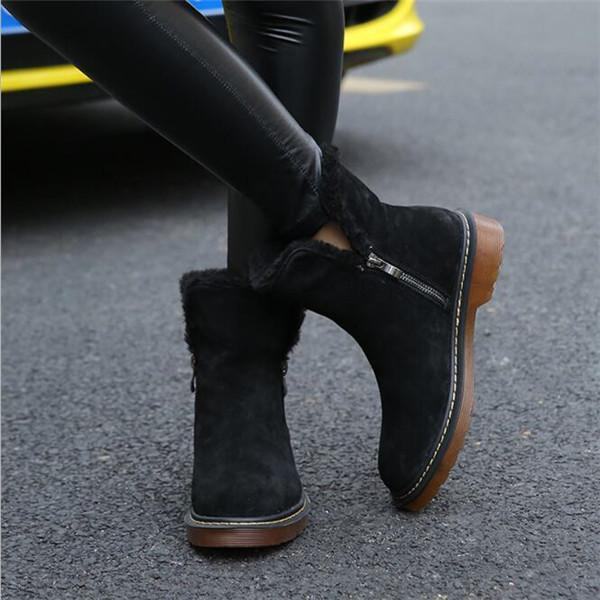 Jolimall Warm Snow Boots Zipper Boots