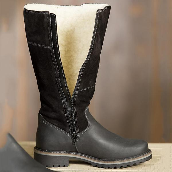 Jolimall Fleece Lined High Rise Snow Boots