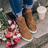 Jolimall Women Perforated Camel Boots