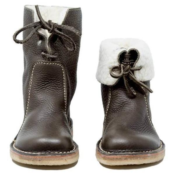 Jolimall Women Cozy-Comfortable Sheep Wool Boots