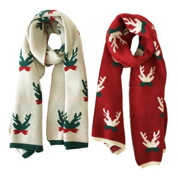 Jolimall Long Thick Versatile Color Christmas New Year Warm Scarf