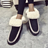 Jolimall Plus Size Warm Shoes Women Casual Slip On Booties