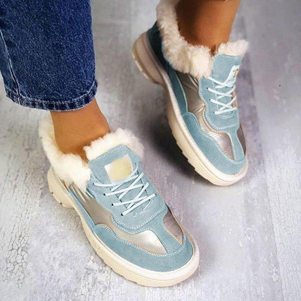 Jolimall Fur Winter Comfy Sneaker Shoes Women's Boots