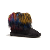 Jolimall Comfy Faux Fur Slip On Snow Boots