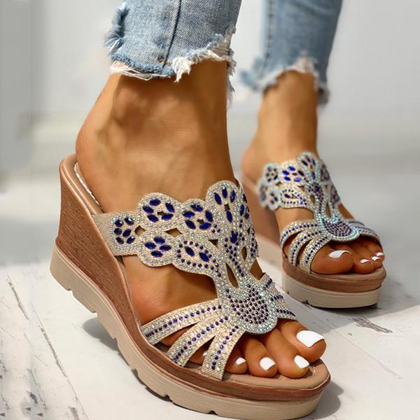 Jolimall Platform Wedge Casual Sandals