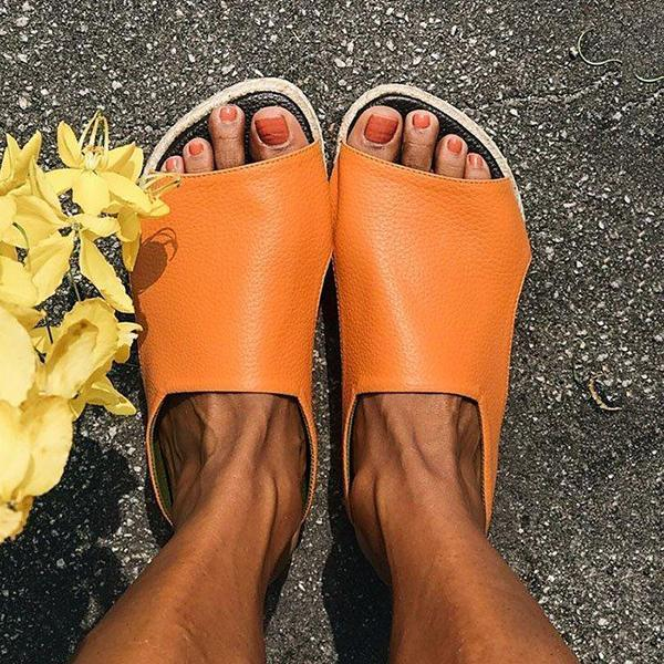 Jolimall Summer Casual Comfy Slip On Sandals