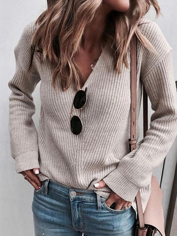 Jolimall Knitted Women 2019 Fall Pullover Sweater