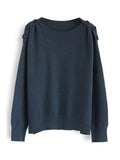 Jolimall Button or Nothing Knit Sweater