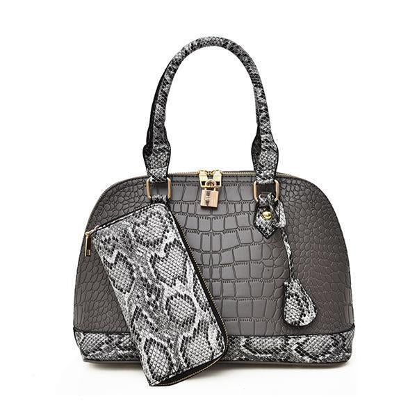 Jolimall Fashion Casual Handbag Crocodile Shoulder Bag