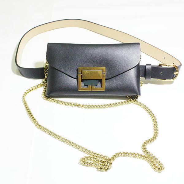 Jolimall Fashion Snake Waist Pocket Diagonal Chain Bag