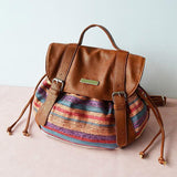Jolimall Vintage Canvas Double Handle Bag