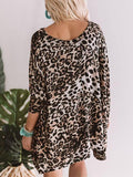 Jolimall Women Leopard And Flow Shift Sweater