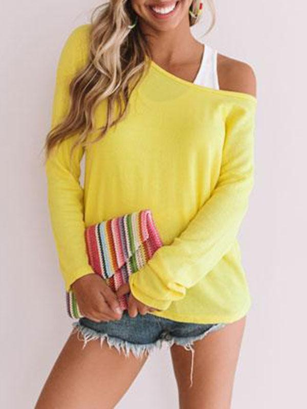 Jolimall Women Casual Comfy Crew Neck Sweater