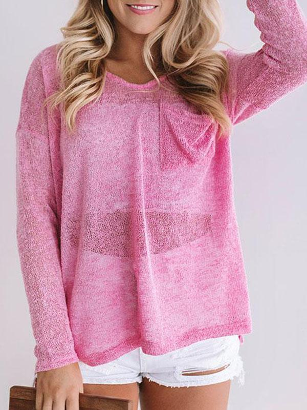 Jolimall Sunrise Yoga Knit Long Sleeve Sweater