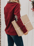 Jolimall Casual Long Sleeve Lapel Neck Sweater