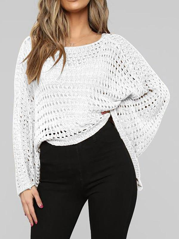 Jolimall Hollow Big Sleeve Loose Casual Sweater