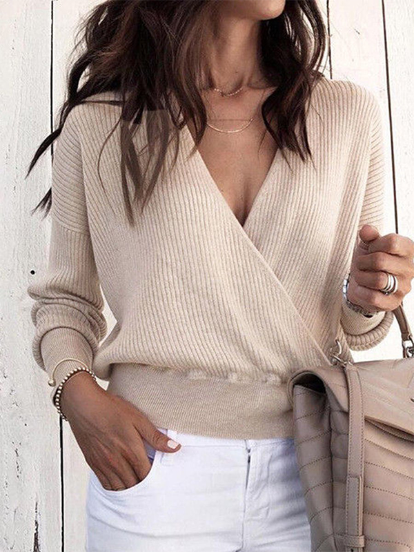 Jolimall Vintage Knitted Long Sleeve Sweater