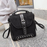Jolimall Fashion Studded Scrub Portable Shoulder Bag