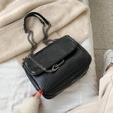 Jolimall Vintage Pu Chain Crossbody Bag