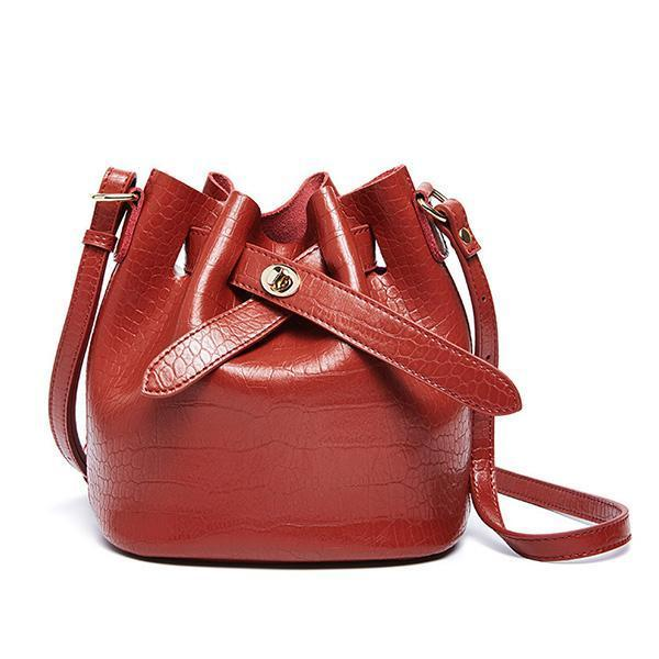 Jolimall Vintage Crocodile Pattern Women's Bag Bucket bag