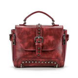 Jolimall Women Vintage Rivet Handbag Shoulder Bag