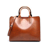 Jolimall Vintage Oil Wax Autumn Winter Handbag