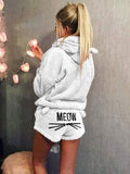 Jolimall Warm Hoodie Sleepwear Two Piece Set