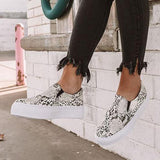 Jolimall The Linden Snake Print Sneakers (ship in 24 hours)