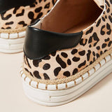 Jolimall Leopard-Printed Slip-On Sneakers(ship in 24 hours)