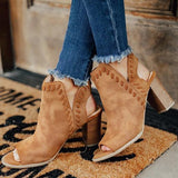 Jolimall The Tenley Peep Toe Boots