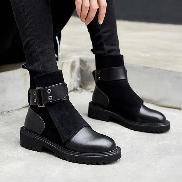 Jolimall Women Fashion Stylish Round Toe Ankle Boots
