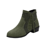 Jolimall Fashion Hollow Out Breathable Plain Round Toe Boots