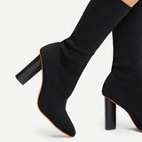 Jolimall Women Fashion Pointed Toe High Heel Boots