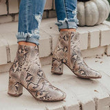 Jolimall Fashion Pu Point Toe Zipper Boots