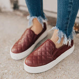 Jolimall The Fashion Stylish Camden Sneaker In Wine