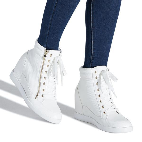 Jolimall Fashion Zipper Platform Shoes Wedge Heel Sneakers