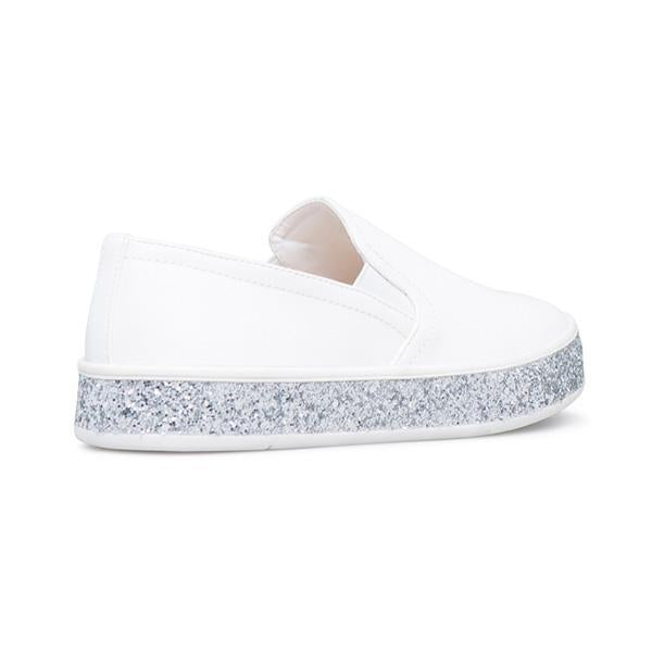 Jolimall Classic Flat Slip On Shoes Glitter Sole Sneakers