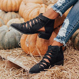 Jolimall Fashion Stylish Point Toe Zipper Boots