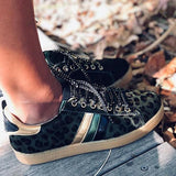 Jolimall Fashion Stylish All Season Mohair Leopard Sneakers